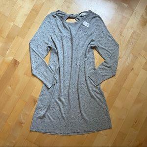 Loft by Ann Taylor Twist Back Sweater Dress